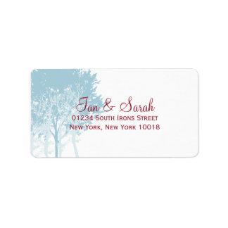 Winter Trees Wedding Custom Address Label