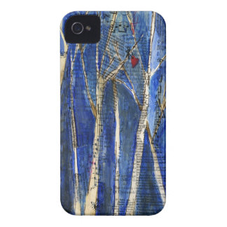 Winter Trees with Heart Case-Mate Case iPhone 4 Covers