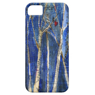 Winter Trees with Heart Case-Mate Case iPhone 5 Covers