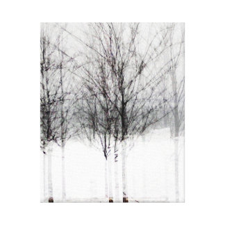 Winter Trees Wrapped Canvas