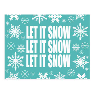 Winter trends let it snow snowflakes postcard
