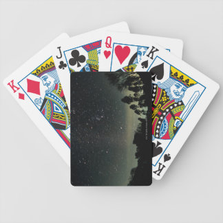 Winter Triangle of Stars Bicycle Playing Cards