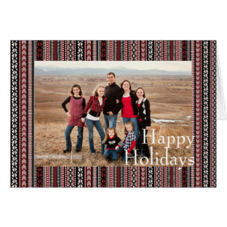 Winter Tribal Holiday Photo Card