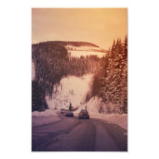 Winter trip photo print