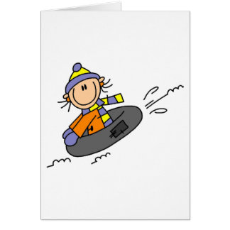 Winter Tubing Card