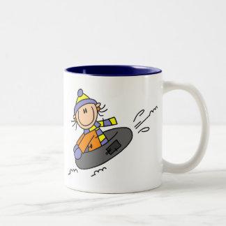 Winter Tubing Two-Tone Coffee Mug