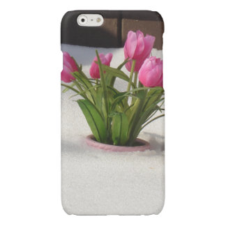 Winter Tulips in Snow Storm Glossy iPhone 6 Case