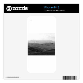 Winter Tuscany landscape with plowed fields Decals For iPhone 4S