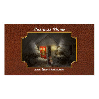 Winter - T'was the night before Christmas Double-Sided Standard Business Cards (Pack Of 100)