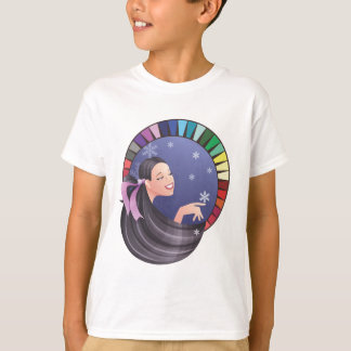 Winter type girl with palette T-Shirt