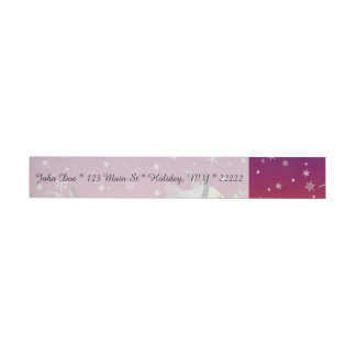 Winter Under the Sea Wrap Around Address Label