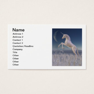 Winter Unicorn Business Card