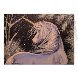 Winter Unicorn Greeting Cards