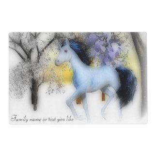 Winter unicorn place mat