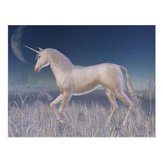 Winter Unicorn - running Postcard