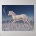 Winter Unicorn - running Poster