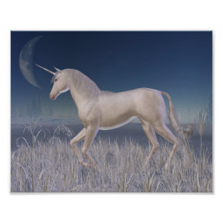 Winter Unicorn - running Poster