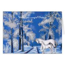 Winter Unicorns Christmas Card