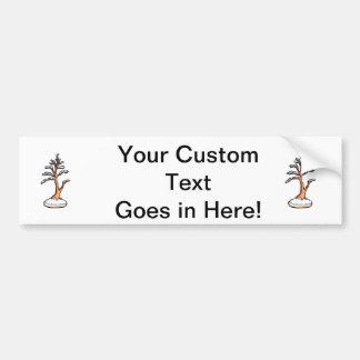 winter upright bonsai   graphic bumper sticker