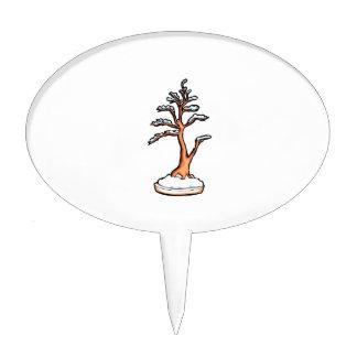 winter upright bonsai   graphic cake topper