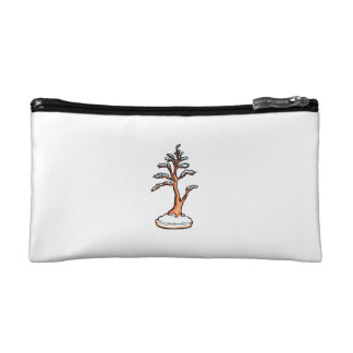 winter upright bonsai   graphic cosmetic bags