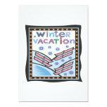 "Winter Vacation 5"" X 7"" Invitation Card"