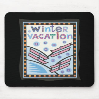 Winter Vacation Mouse Pad
