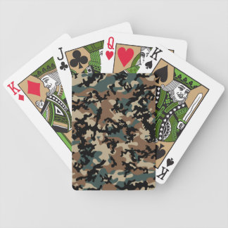 Winter Verdant Camo Bicycle Playing Cards
