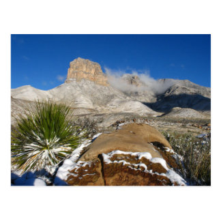 Winter View, El Capitan,, Guadalupe Mountains NP Postcard