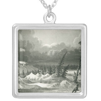 Winter View of Fort Franklin Personalized Necklace