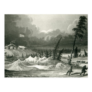 Winter View of Fort Franklin Postcard