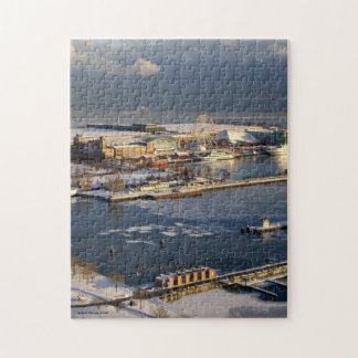 Winter View of Lake Michigan and Navy Pier Jigsaw Puzzle