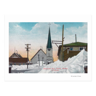 Winter View of Steadman Avenue Covered in Snow Postcard