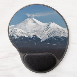 Winter view of volcanoes of Kamchatka Peninsula Gel Mouse Pad