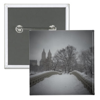 Winter View On Bow Bridge,Central Park, NYC Pins
