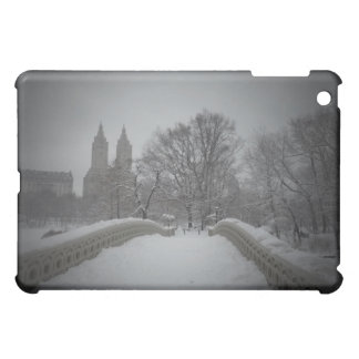 Winter View On Bow Bridge,Central Park, NYC iPad Mini Covers