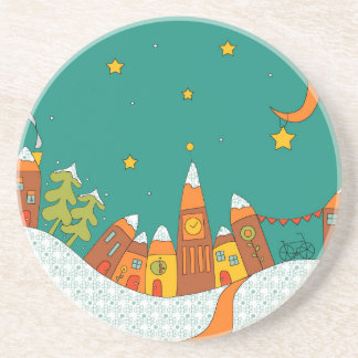 Winter Village Drink Coaster