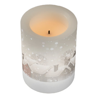Winter Village Flameless Candle