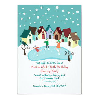Winter Village Invitation