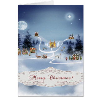 Winter Village, Merry Christmas Cards