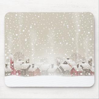 Winter Village Mouse Pad