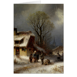 Winter Village Scene - Winterliche Dorszene Cards
