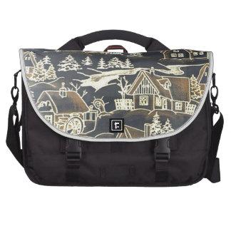 Winter Village, vintage Commuter Bags