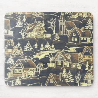 Winter Village, vintage Mouse Pad
