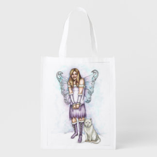 Winter Violet Bag Grocery Bags