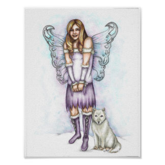 Winter Violet Poster