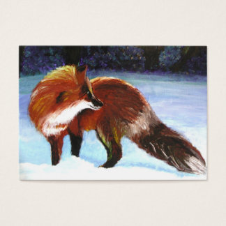 Winter Visitor (Red Fox) ACEO Art Trading Cards