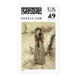 Winter Walk 1891 Postage Stamp