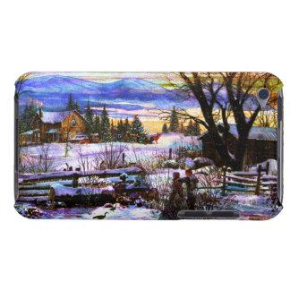 Winter Walk Home Boy Girl & Dog iPod Touch Case-Mate Case