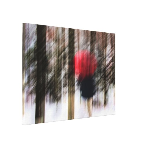 Winter Walk in the Woods Wrapped Canvas Canvas Prints